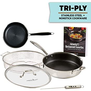 amazoncom copper chef titan pan  ply stainless steel
