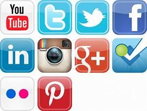 social media icons - Sacramento Bloggers