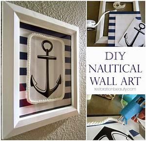 restoration beauty diy nautical wall art With nautical wall art