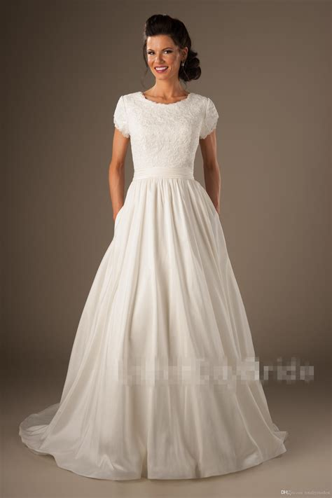 discount  country modest wedding dresses cap sleeves