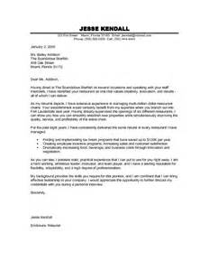 resume cover letter exle for restaurant manager this free sle was provided by aspirationsresume