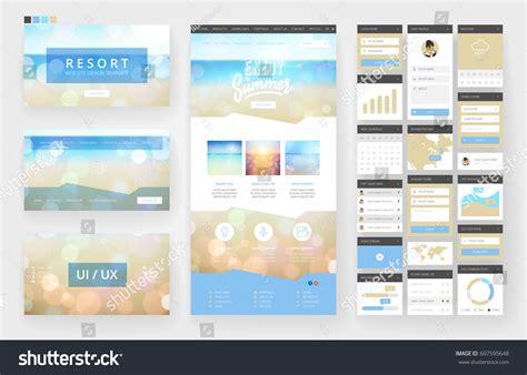 website template  page design headers stock vector
