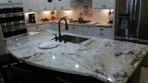 kitchen with two islands two tone country kitchen alpine white granite my