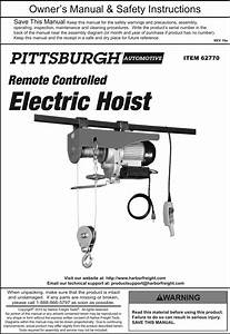 31 Pittsburgh Electric Hoist Wiring Diagram