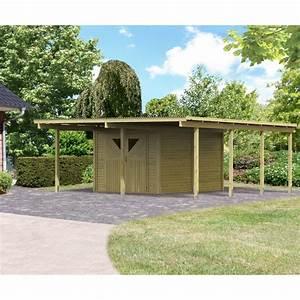 carport en bois autoclave 3035m2 avec debarras 9m2 karibu With garage en bois autoclave