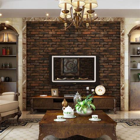living room with brick wallpaper 3d stone wallpaper for walls 3d brick effect slate stone wallpaper wall textured vinyl tv room