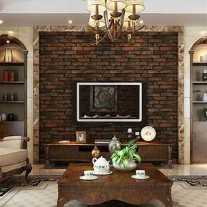 Living Rooms With Brick Effect Wallpaper