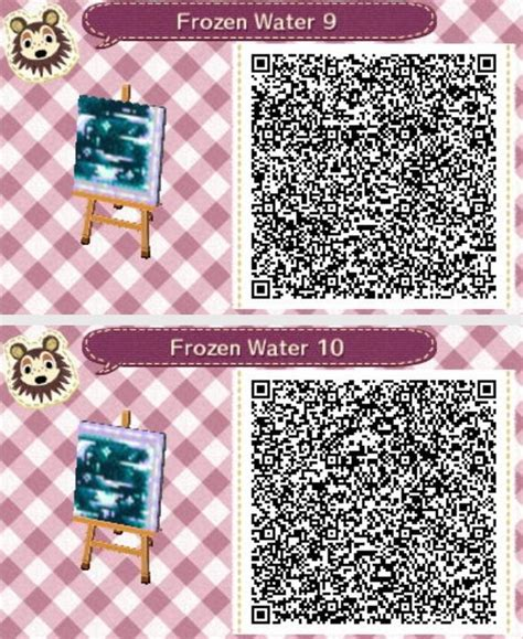 frozen water animal crossing  leaf qr codes