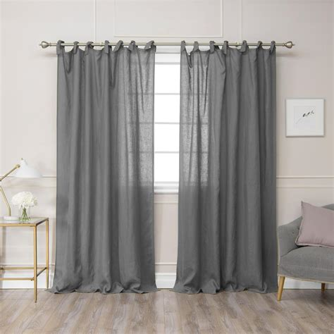 Grey Drapery Panels by Best Home Fashion Grey 96 In L Abelia Belgian Flax