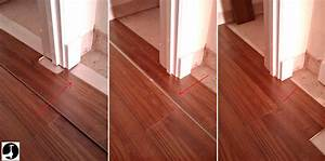Laying laminate in a doorway for How to lay laminate flooring through a doorway