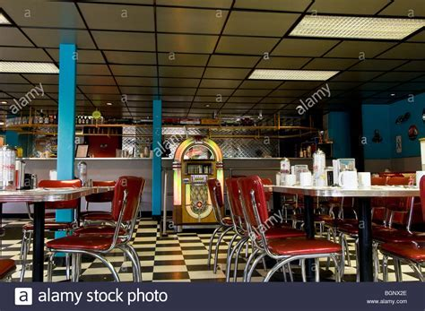 Retro 1950s style diner, New York, USA Stock Photo