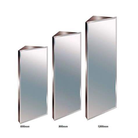 Stainless Steel Corner Bathroom Cabinet by Stainless Steel Mirror Bathroom Corner Cabinet Bevelled