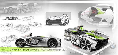 Bmw K1600gt Hybrid 3-wheeler Concept By Nicolas Petit