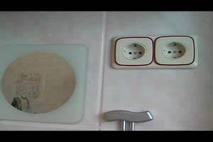 Steckdosen Badezimmer Waschbecken : video steckdosen im badezimmer einrichten darauf ist zu ~ Lizthompson.info Haus und Dekorationen