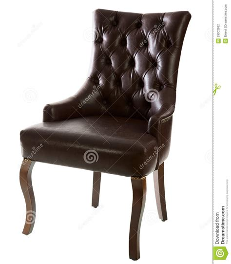 brown leather arm chair stock photography image 29002982