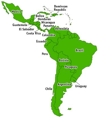 Spanish-speaking Countries Map