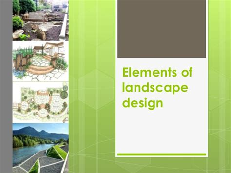 elements of landscape elements of landscape