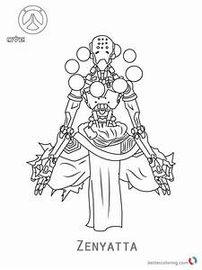 Zenyatta From Overwatch Coloring Pages Free Printable