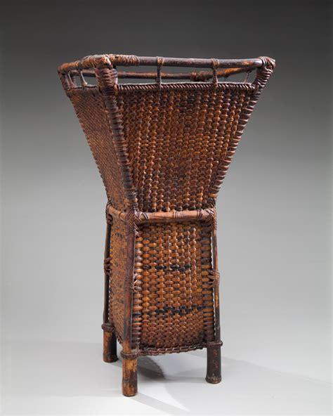 ifugao hulol basket  carrying potatoes exhibition