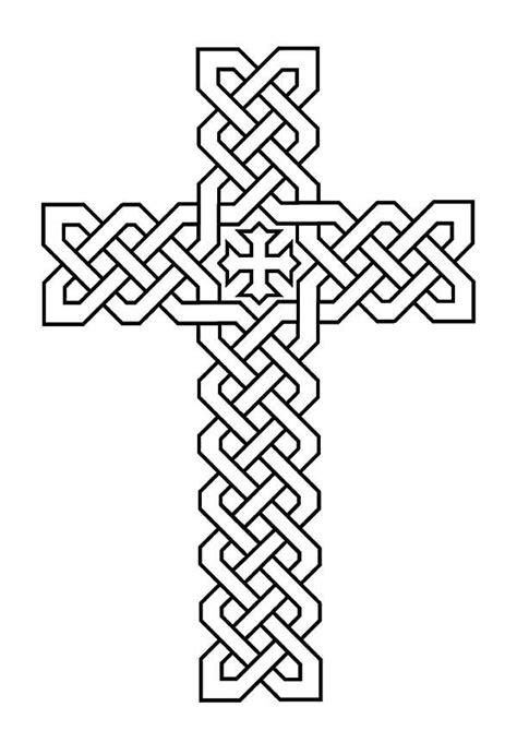 morphed celtic cross coloring pages  place  color