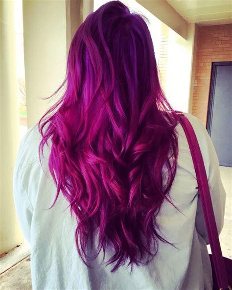 Pink And Purple Hair Magenta Hair Hair Color Purple