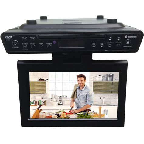 cabinet mount tv for kitchen sylvania skcr2706bt 10 1 quot counter led skcr2706bt b h 9527