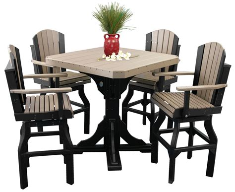 bar table set w swivel chairs polywood haus