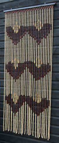 brown natural wooden bamboo beaded bead door curtain