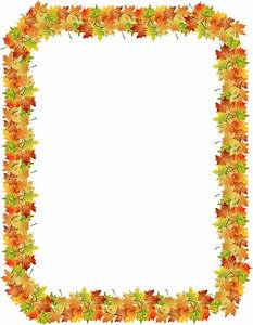 Fall Leaf Border Template | Theleaf.co