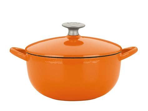 mario batali enameled cast iron soup pot  quart persimmon cutlery