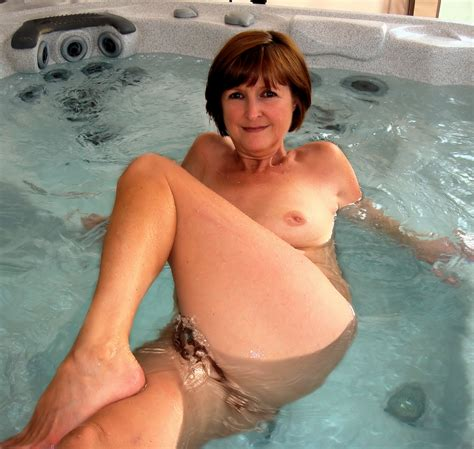 Wife In Hot Tub At