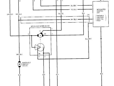 Wiper Motor Wiring Question Honda Tech Forum