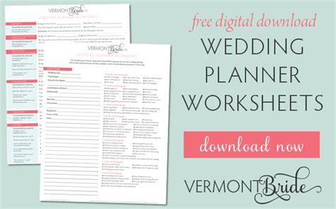 free wedding planning worksheets