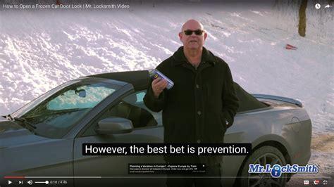 how to open a car door how to open a frozen car door mr locksmith automotive