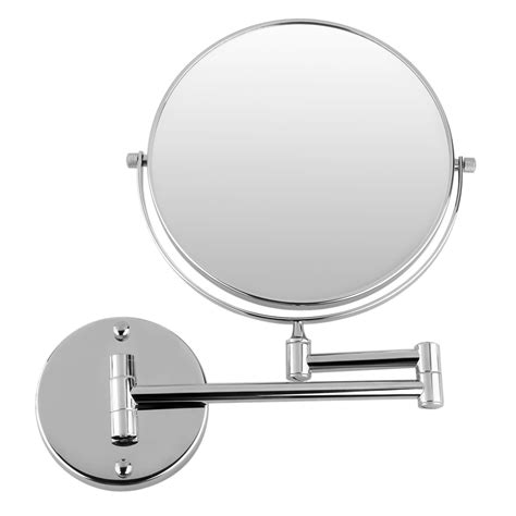 Magnified Bathroom Mirror by 10x Magnifying Wall Mount Compact Cosmetic Magnification