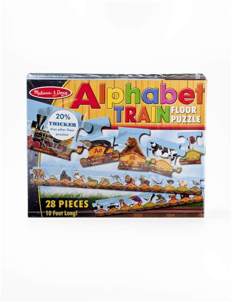 melissa doug alphabet train floor puzzle stage stores
