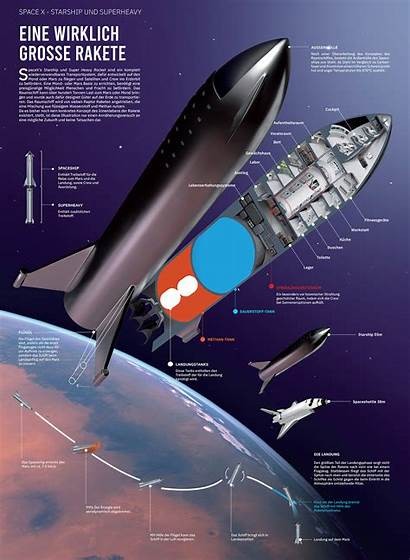Spacex Starship Diagram Cutaway Space Concept Mars