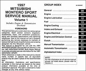 1997 Mitsubishi Montero Sport Repair Shop Manual Set Original