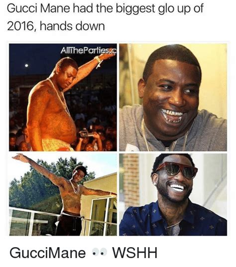 Gucci Mane Memes - funny glo up memes of 2017 on sizzle mattered