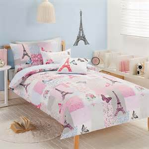 paris chic eiffel tower single twin bed quilt doona cover
