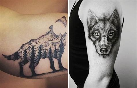 wolf tattoo ideas lone wolf  designs  meanings