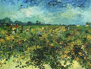 The Green Vinyard - Post Impressionist Vincent Van Gogh ...