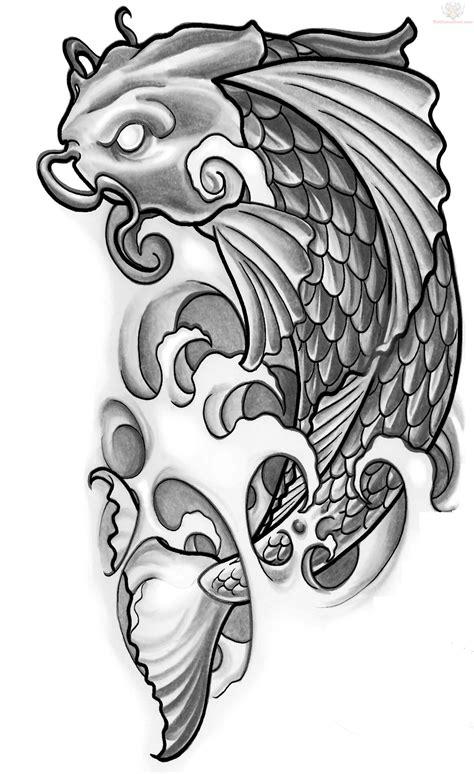 koi tattoo design  displacement ideas  xerxes