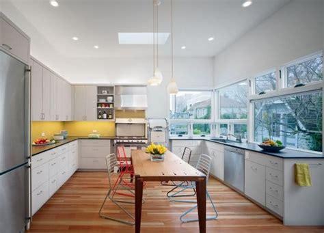 Yellow Grey Kitchen