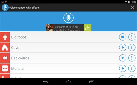 changer for android voice changer with effects soft for android free