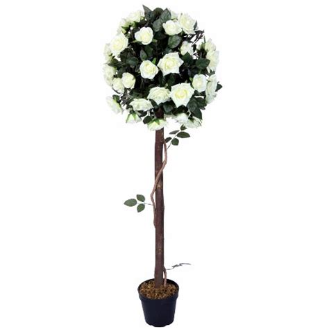 White Rose Topiary Tree