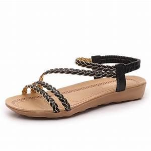 2017 Women Sandals Summer Shoes Fashion Women Flat Sandals ...