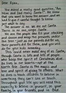 have you seen the letter that will help teach the truth to With real letter to santa