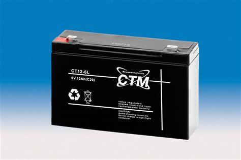 6 volt akku ctm berlin agm batterie blei akku 6v 12ah zyklenfest