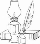 Quill Lamp Lantern Drawing Fashioned Embroidery Coloring Pages Place Beccy Beccysplace Christmas Template Ink Applique Drawings Colouring Patterns Stamps Clip sketch template